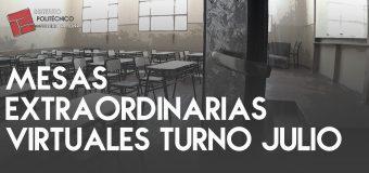 MESAS EXTRAORDINARIAS VIRTUALES TURNO JULIO 2020