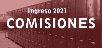 Comisiones DEFINITIVAS – INGRESO 2021
