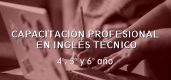 Capacitación en Inglés Técnico – Exámenes (Niveles 1 y 2).