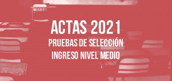 Listas Examen Ingreso 2021 – NIVEL MEDIO